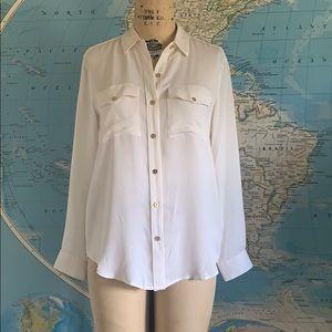 Michael Kors blouse silk white